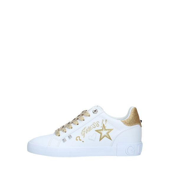 Guess Sneakers Donna WHITE GOLD | Revolution Store