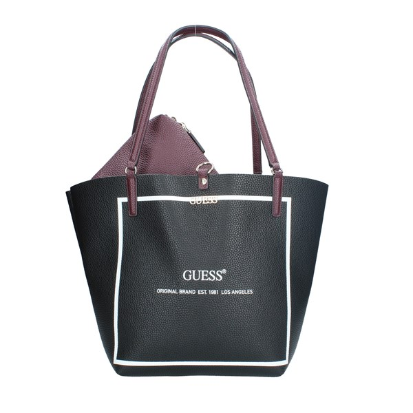 BORSE Guess Donna BLACK BORDEAUX Vendita BORSE On line