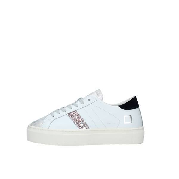 D.A.T.E. Scarpe Donna SNEAKERS WHITE BLACK W331-VE-CA-WB